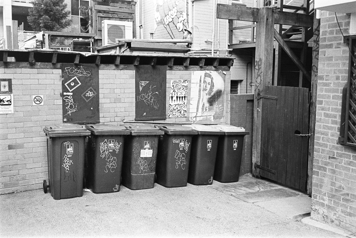 A… gaggle of bins?