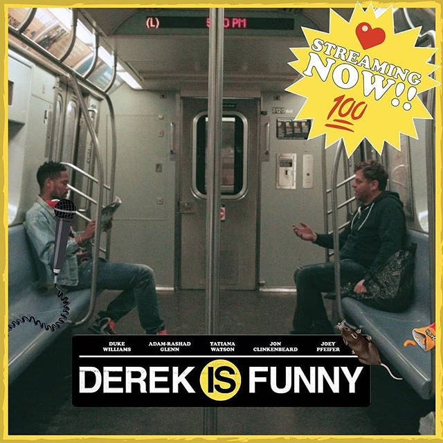 """Go watch my movie! • @derekisfunnynyc Homeless Guy: """"Well...my comedian.  Tell me a joke."""" Be sure to stream Derek Is Funny on@amazonprimevideo today!  #indiefilm #movienight #standup #subway #nyc #film #happiness #success #new #funny #streaming #you #camera #landscape #creative #independent #nyclife #bts #original #behindthescenes #comedian #movies #amazonprime @rokproduction @bluepointbrewing @budweiserusa @bearcatnyc @vossworld @watchcoolmovies"""