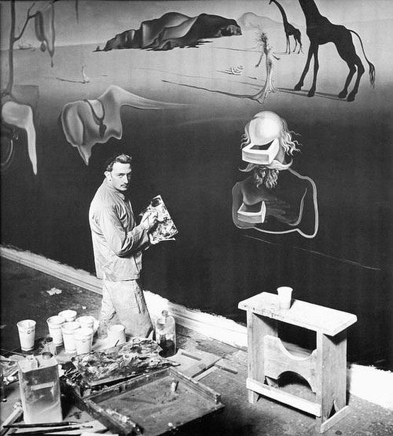 Salvador Dali, 1939, finishing The Dream of Venus for The World's Fair in Flushing, NY