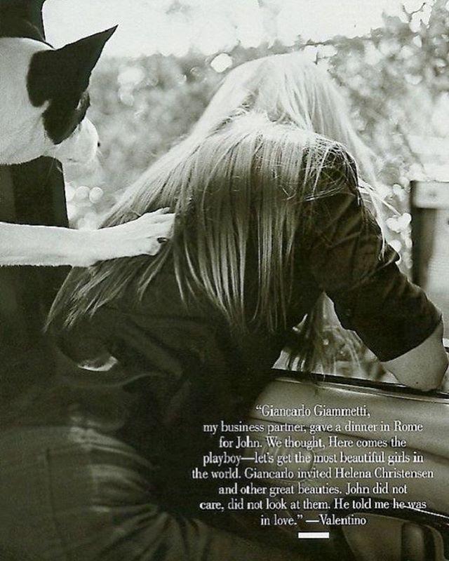 Carolyn Bessette Kennedy by Bruce Weber for September 1999 @vanityfair