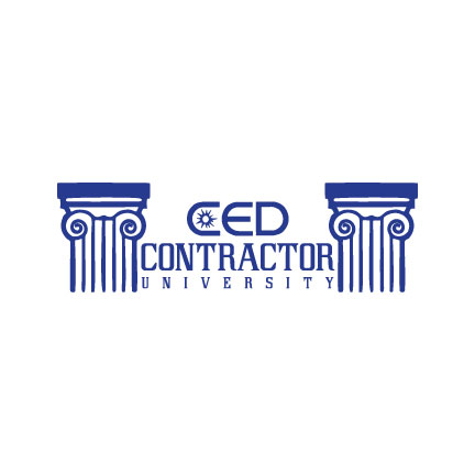 Contractor University   a logo for a CED electrician workshop class