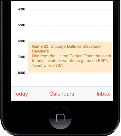 The hashtag #NBA is included in the reminder