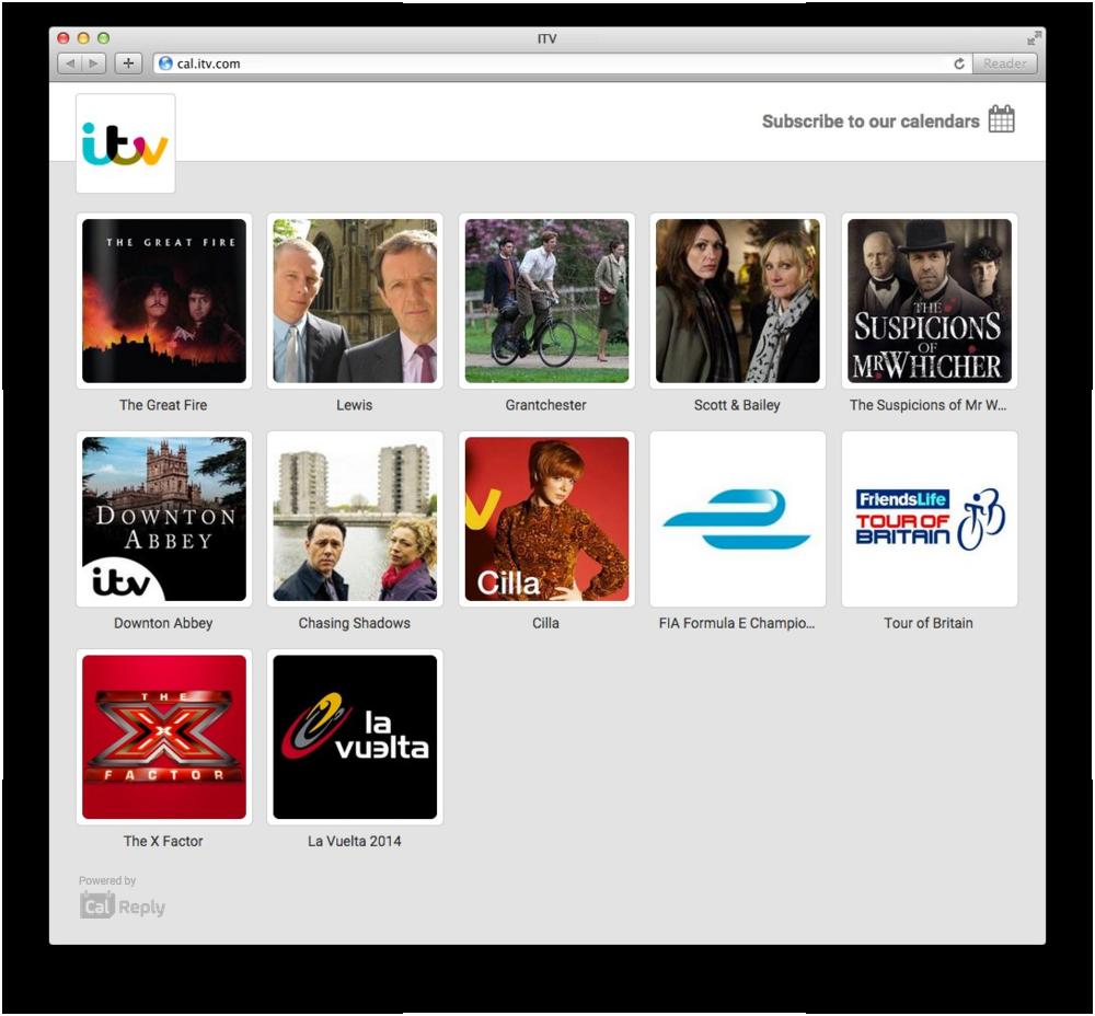 Desktop #SHOWS Page