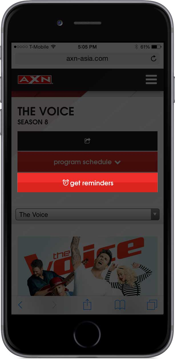 Mobile get reminders button