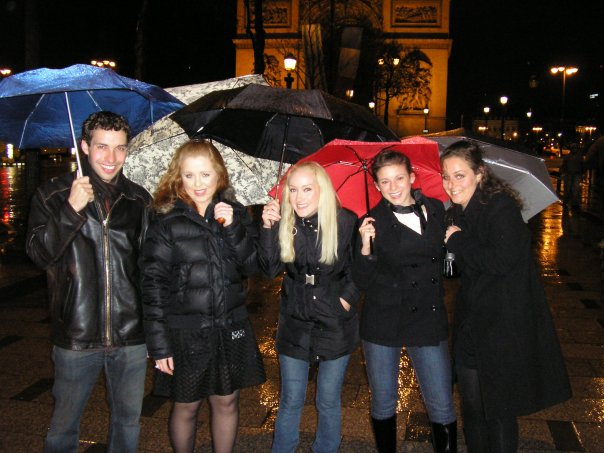 The group, pictured on the Champs-Elysees on my 20th Birthday