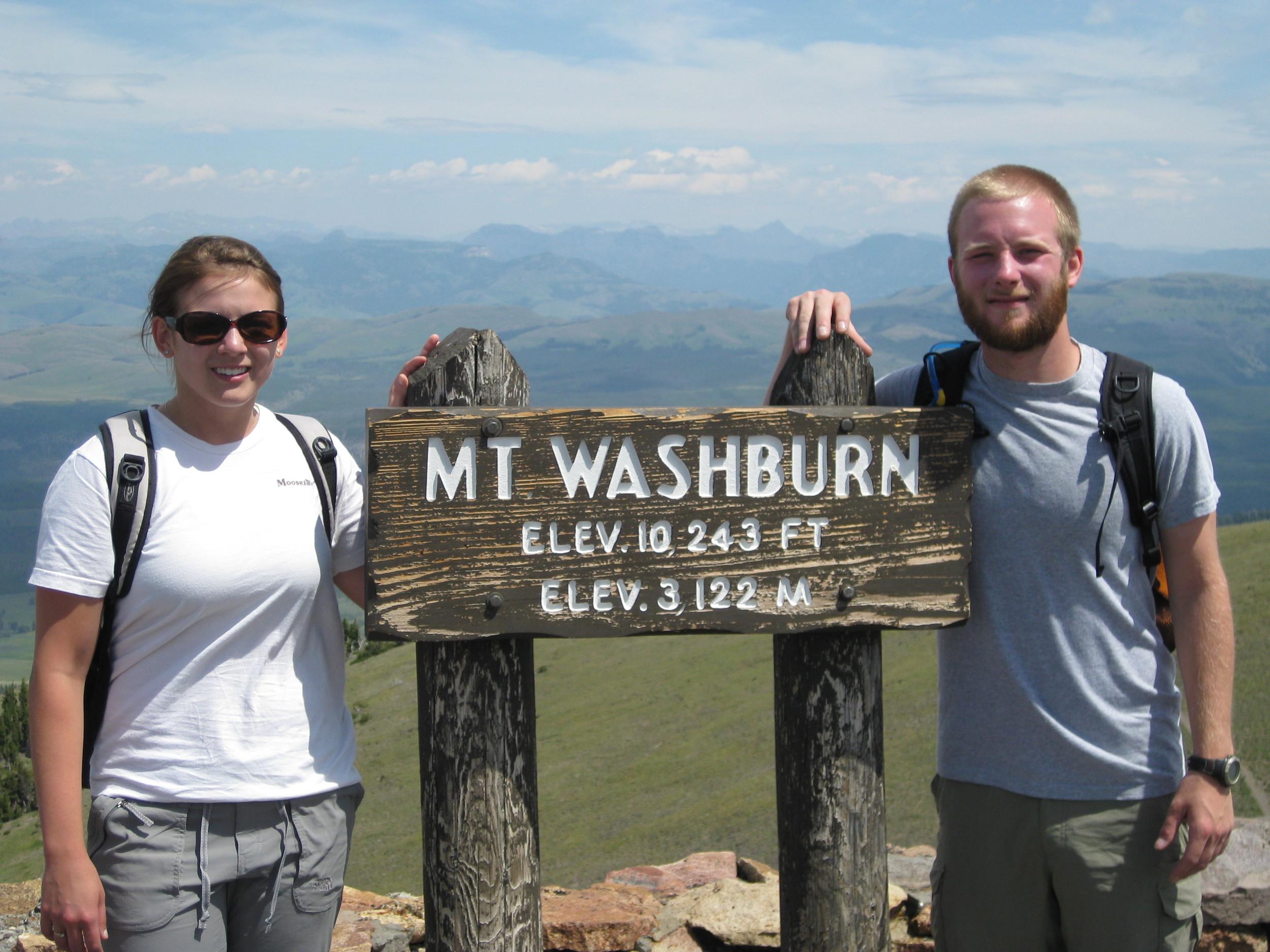 Atop Mount Washburn