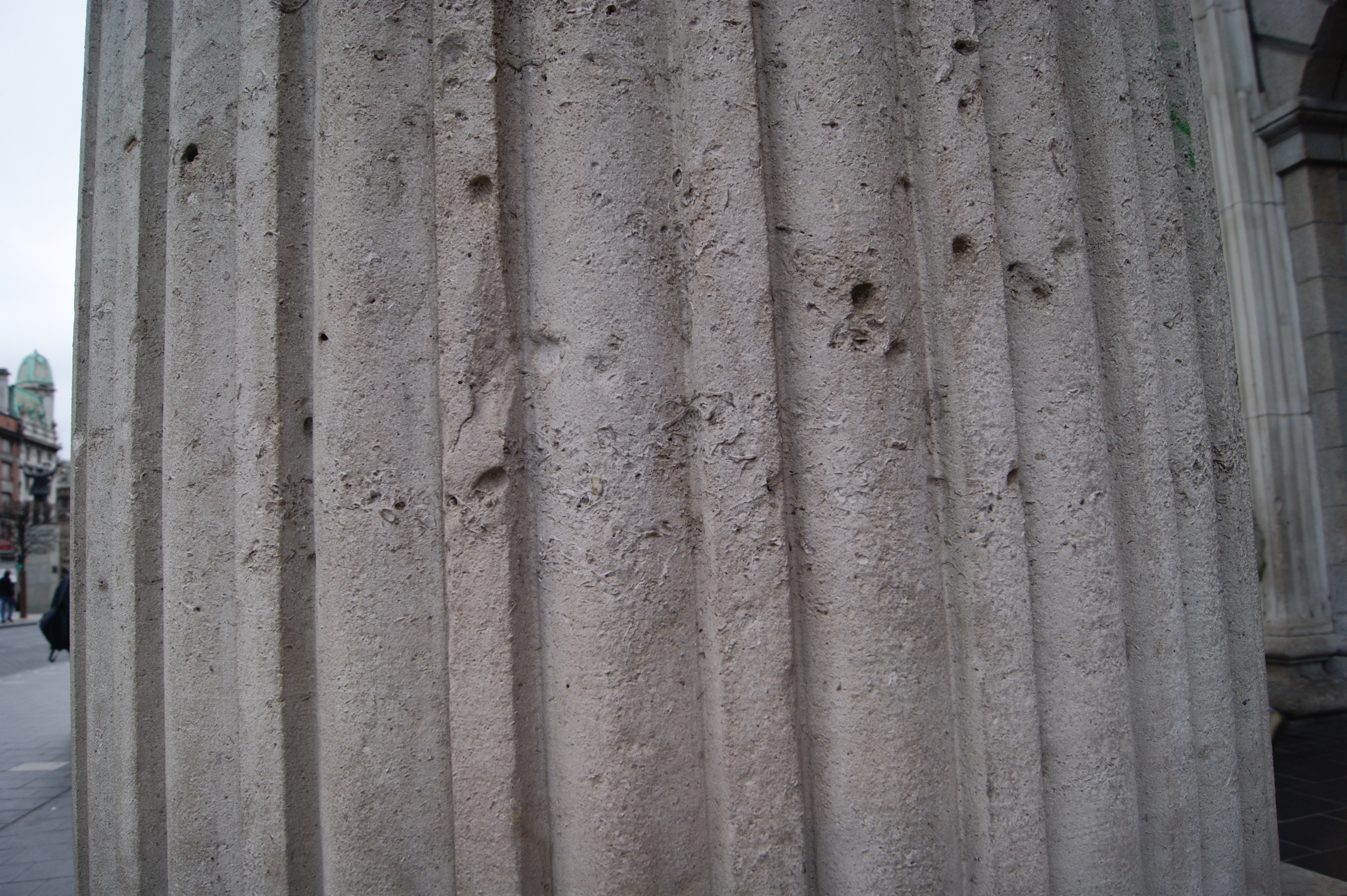 Bullet holes in the post office