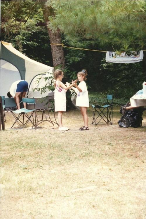Camping trip fun