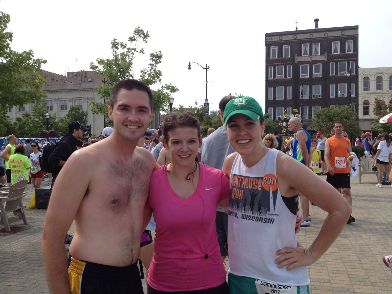 Joe, Lauren, and I at the end of the Lighthouse Run