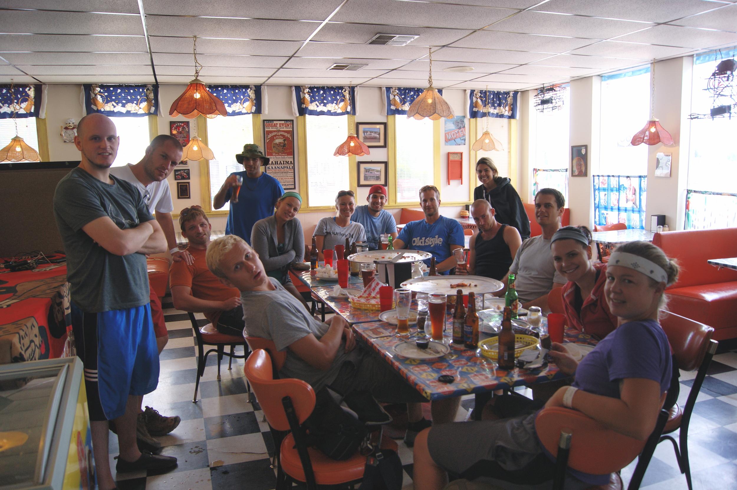 Post-trek pizza at Stagecoach 66