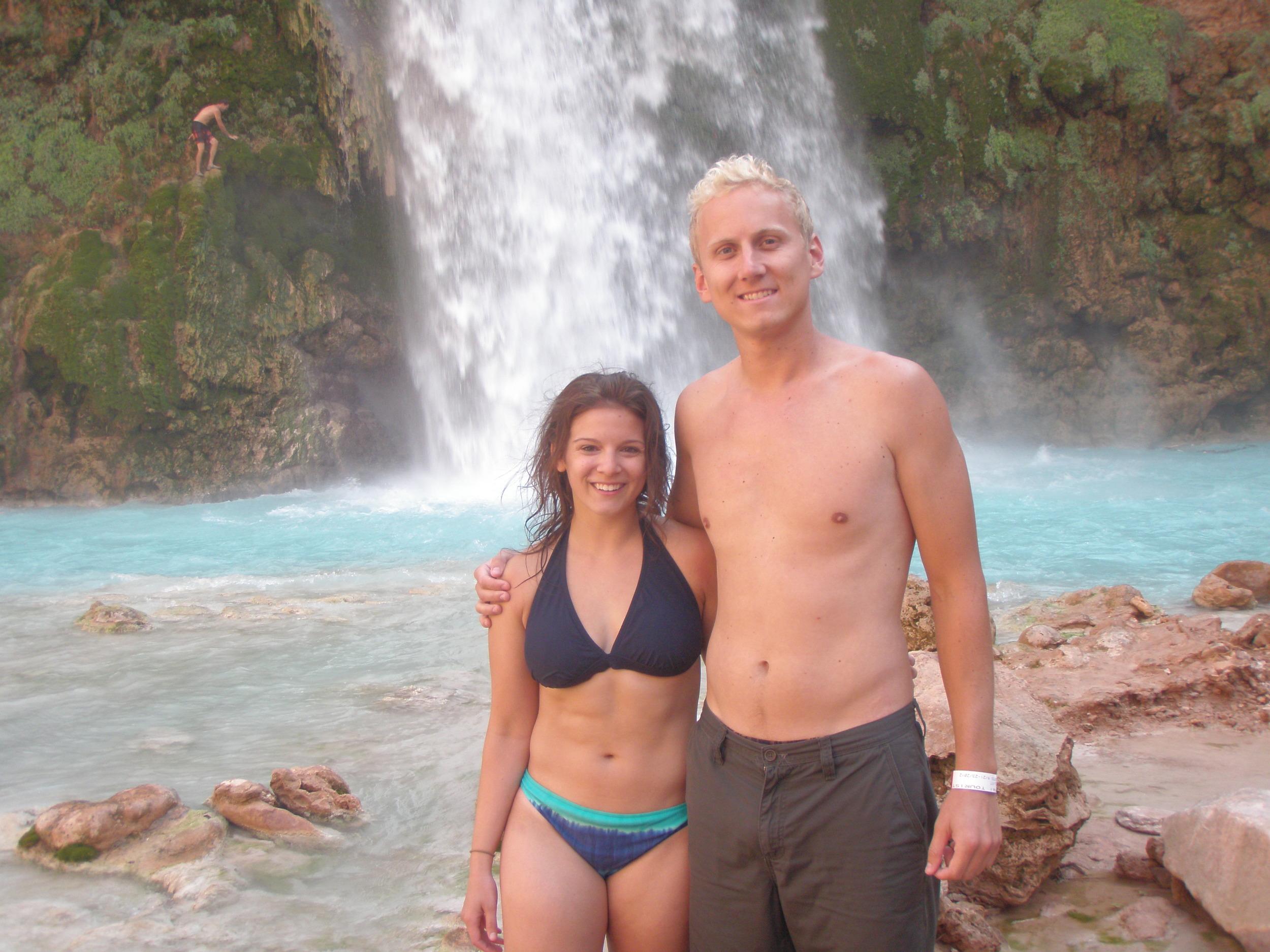 At the base of Havasu falls