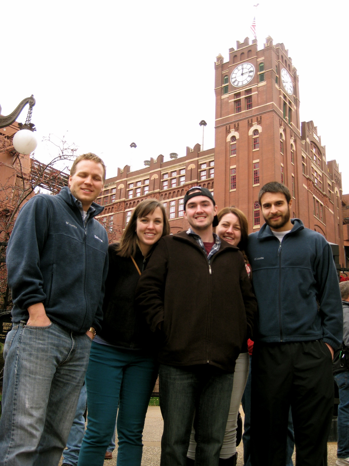 The group outside of the brewery