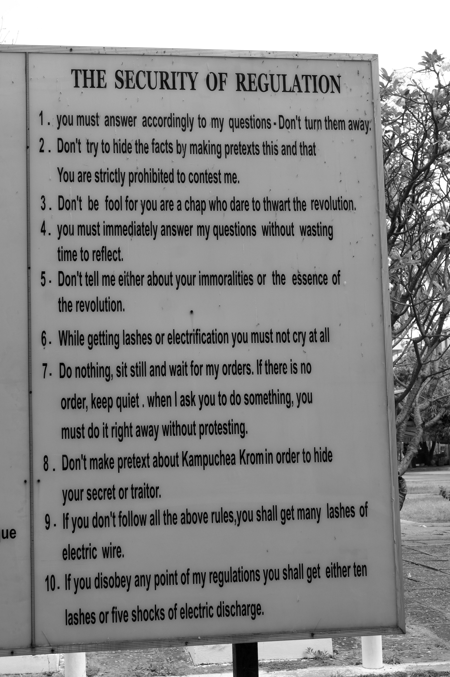Rules at Tuol Sleng (S-21)