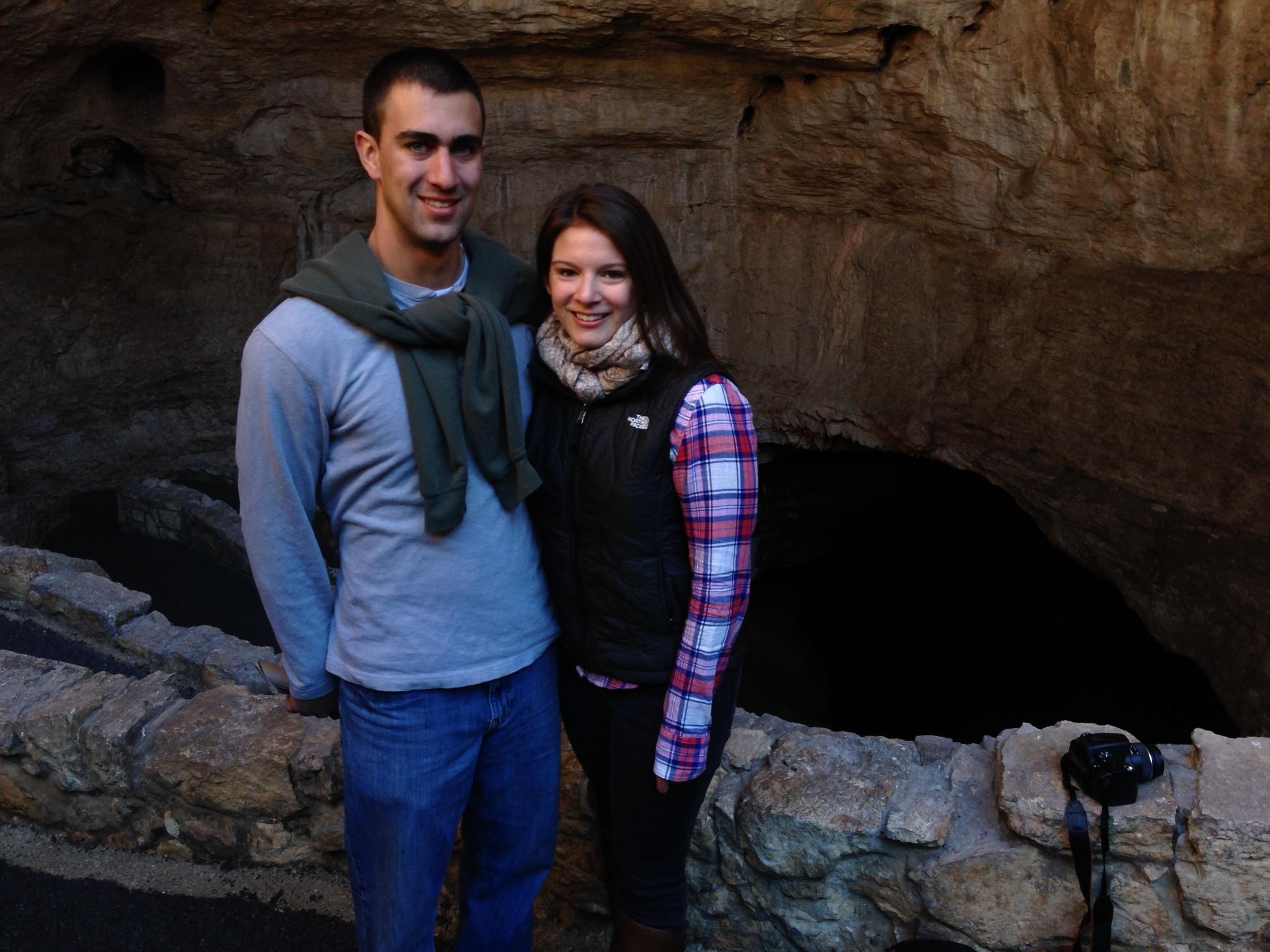 At the entrance of Carlsbad Caverns