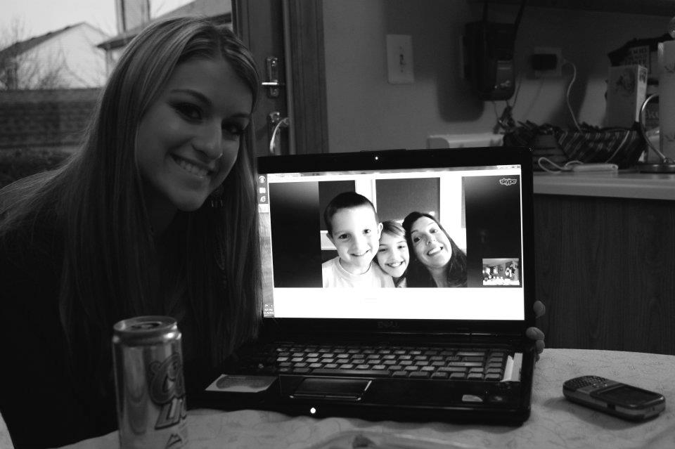 Skyping with long distance relatives
