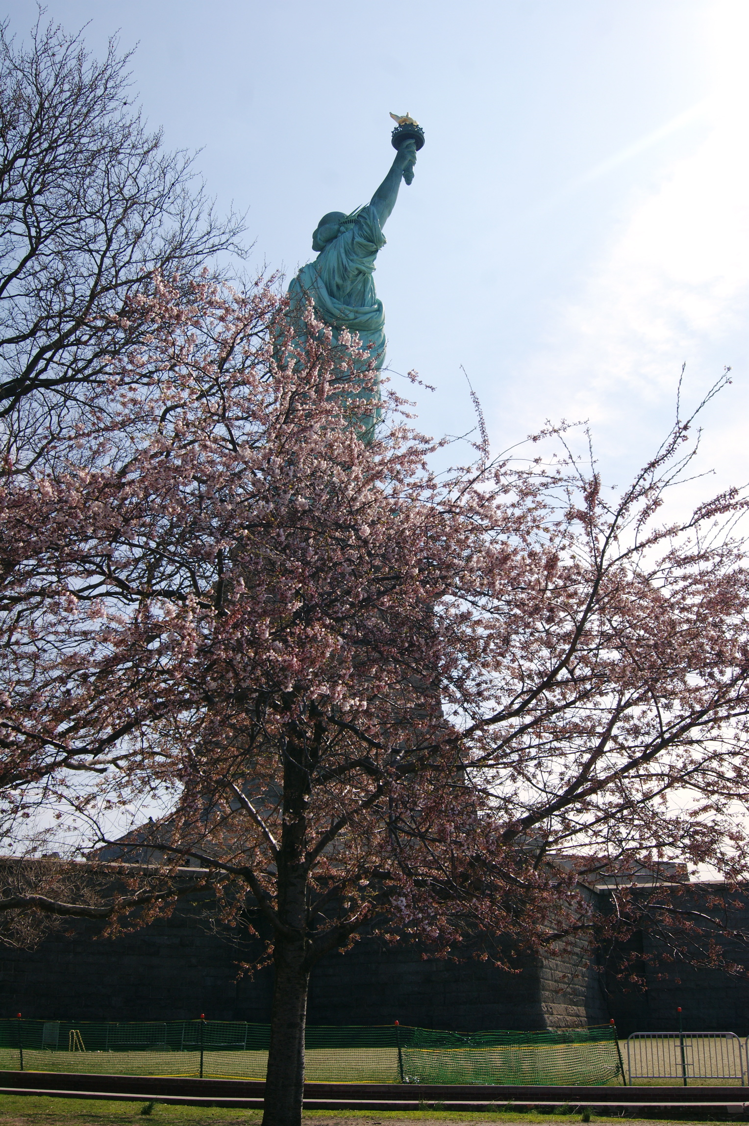 Statue in the spring