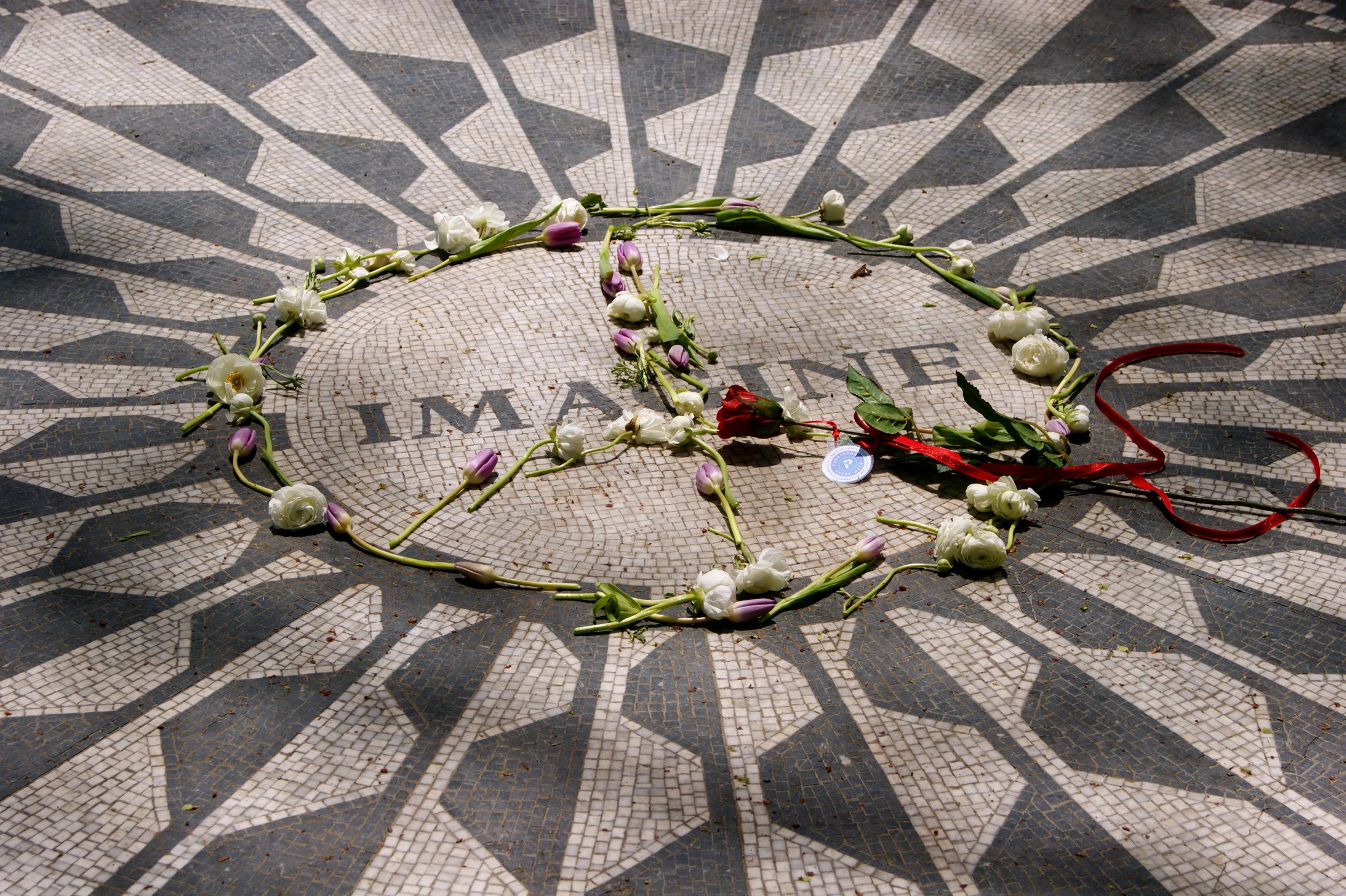 John Lennon memorial at Strawberry Fields