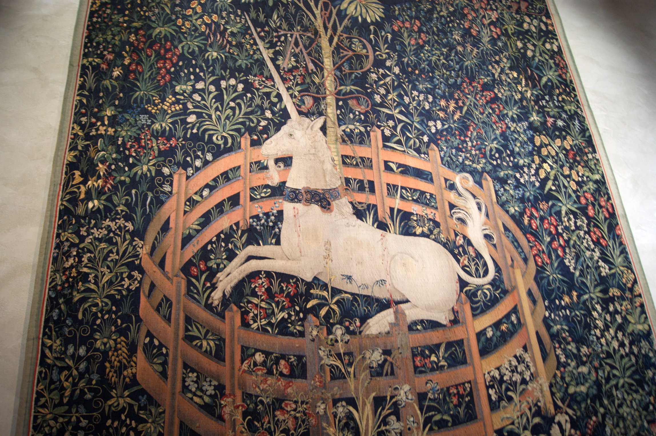 """Famous """"Capture of the Unicorn"""" Tapestry"""