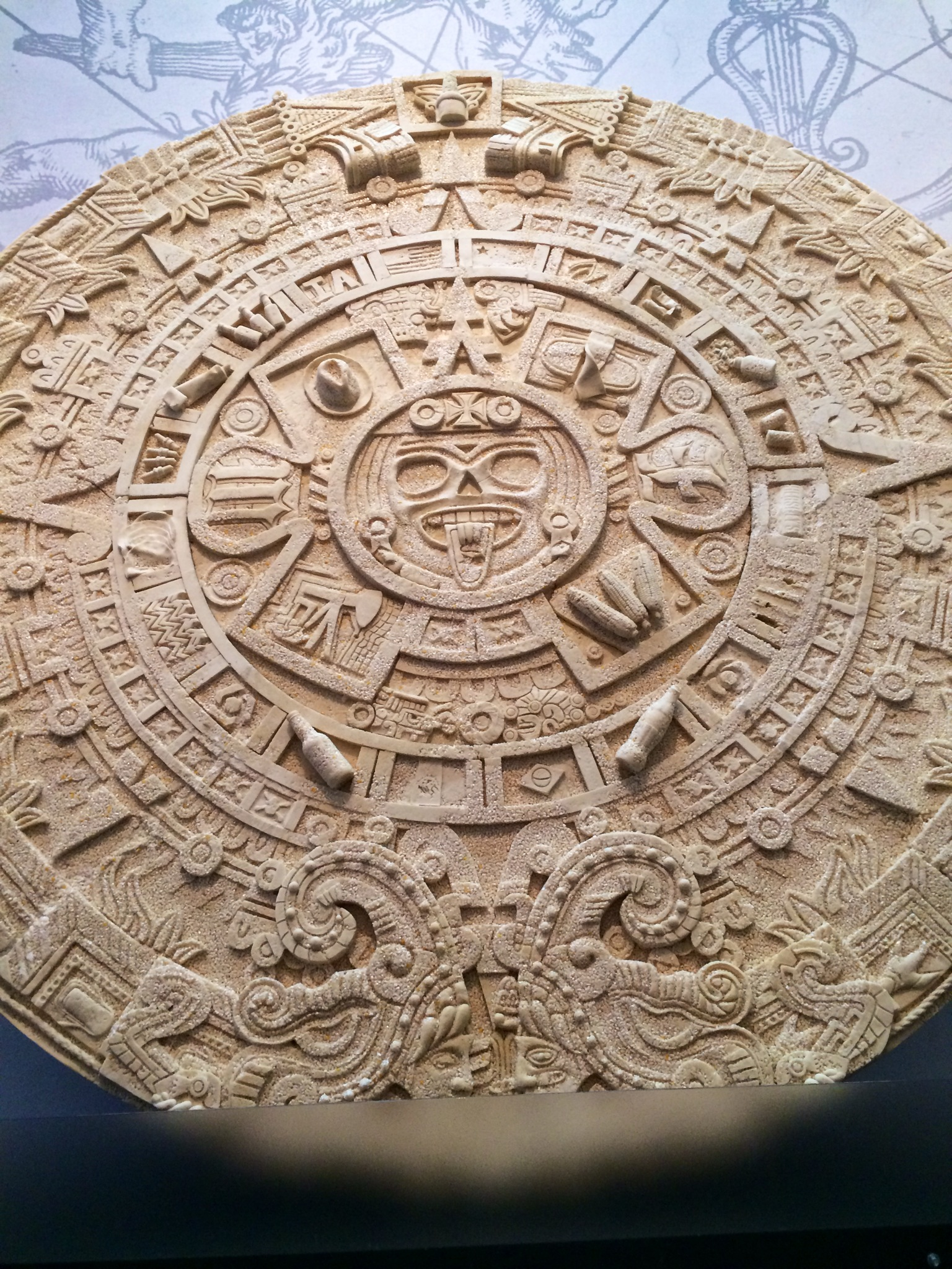 Avarice: Aztec calendar made of corn, with corn products hidden throughout. Can you find the coke bottles? The toothpaste?