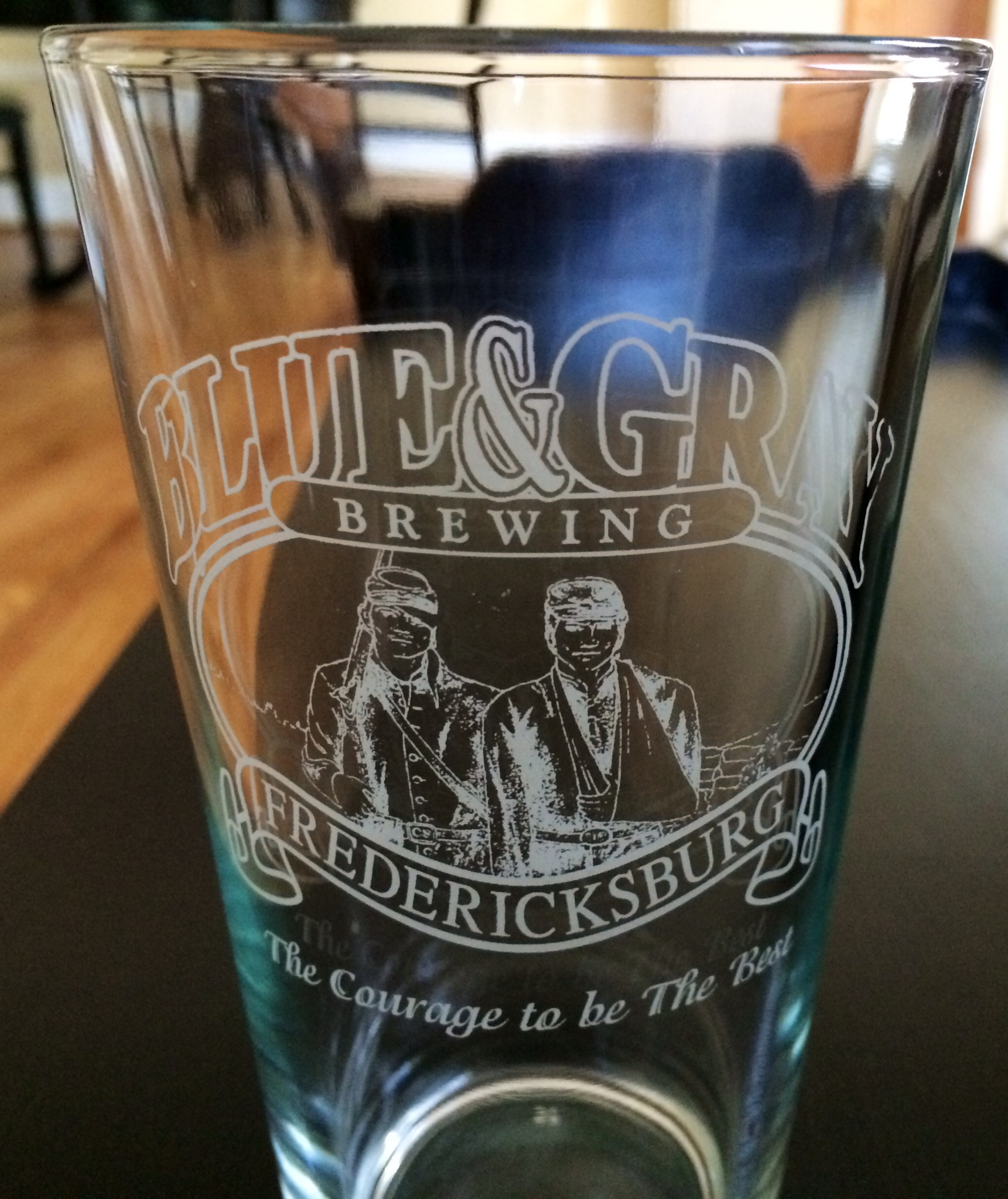 Pint glass from the Blue & Grey Brewing Co