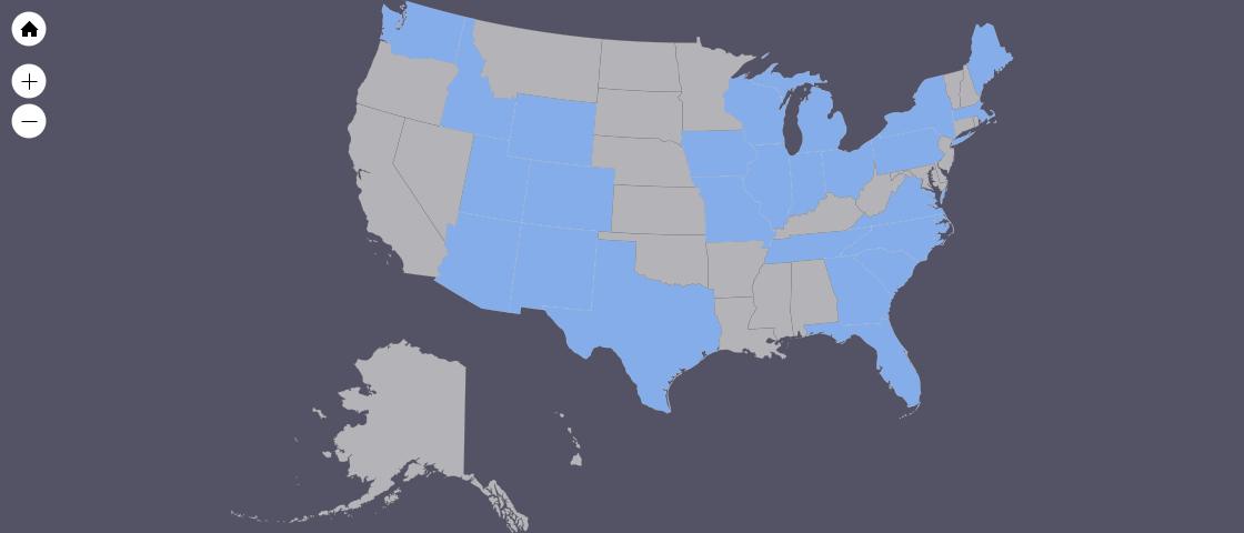 Visited States Map_Washington