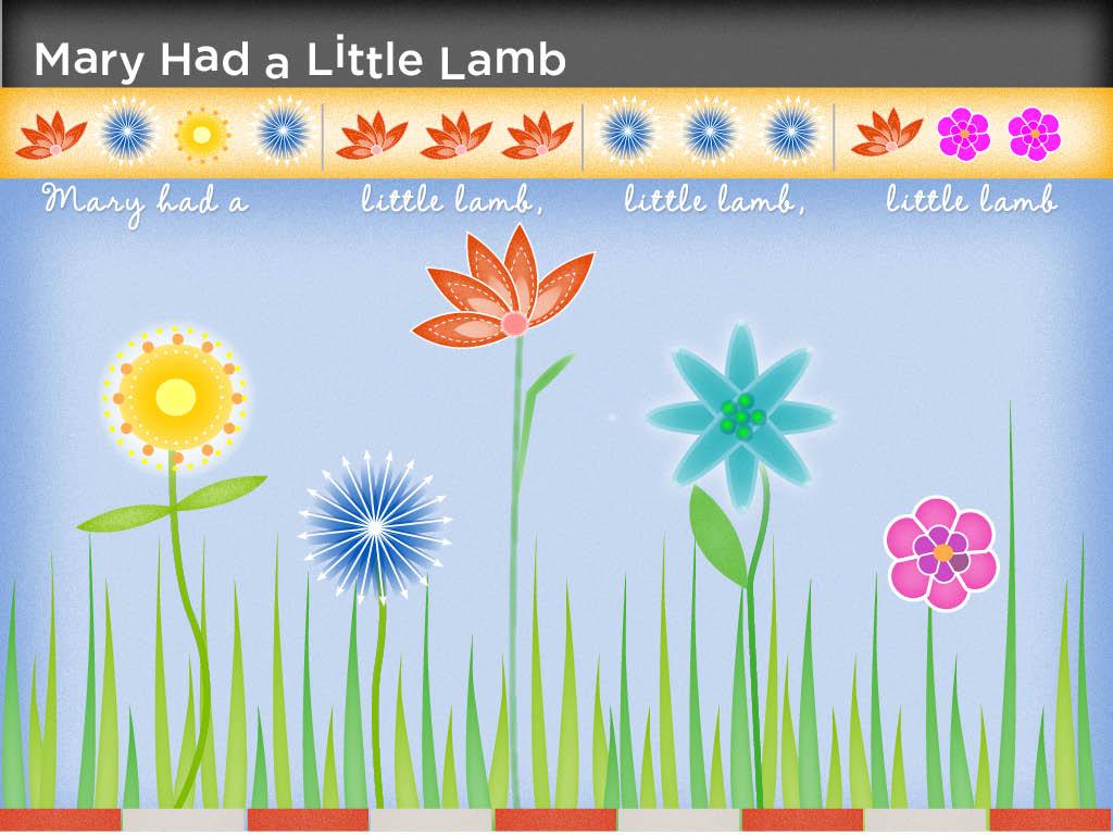 Illustration for children's music app
