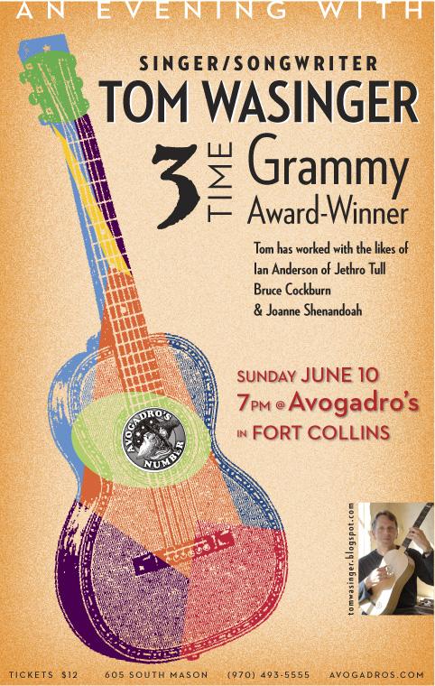 Concert poster for singer/songwriter/guitarist