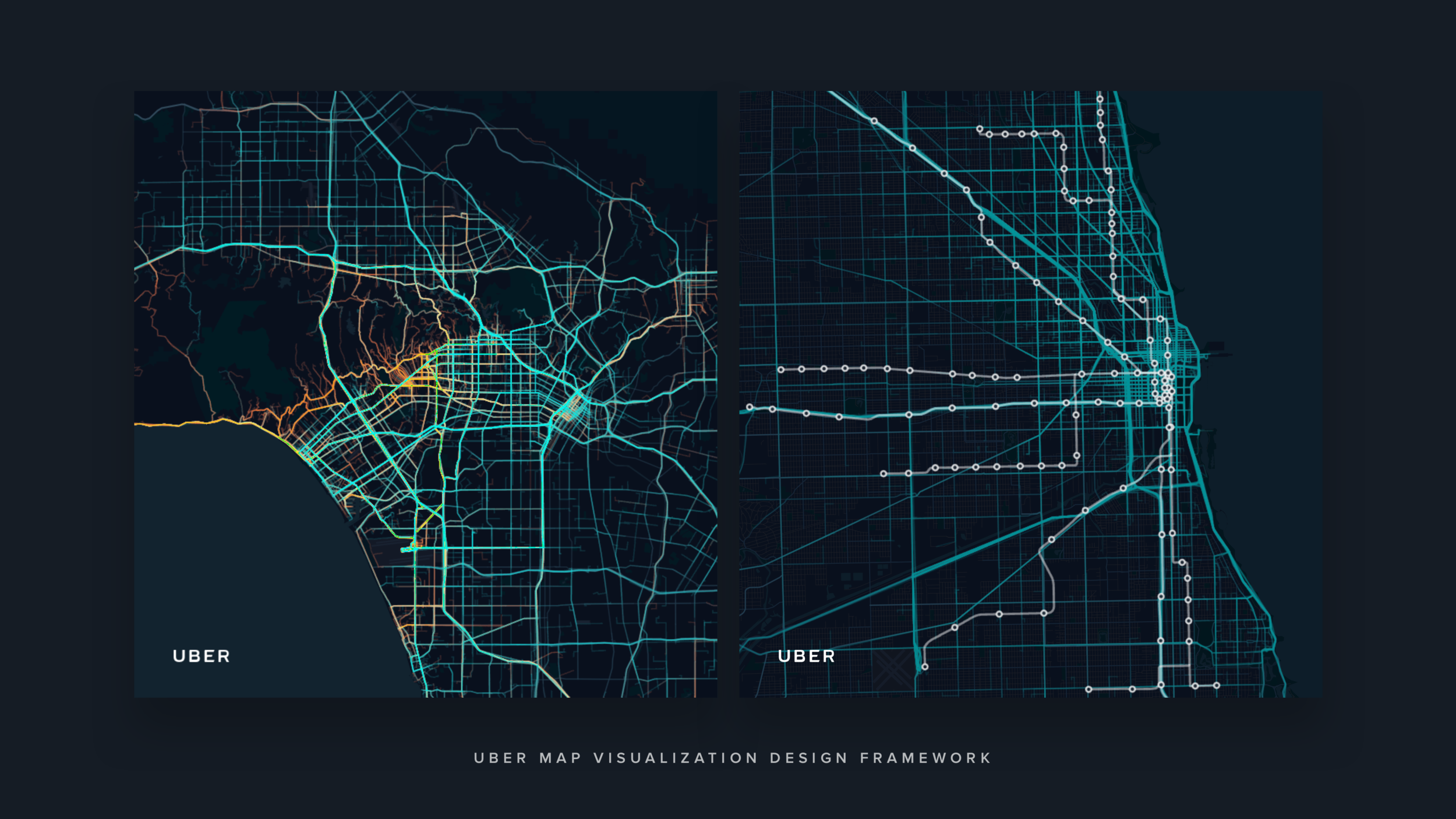 UBER Map Visualization Design Framework