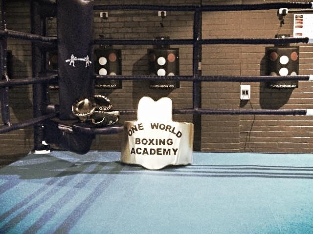One World Boxing Academy ringside