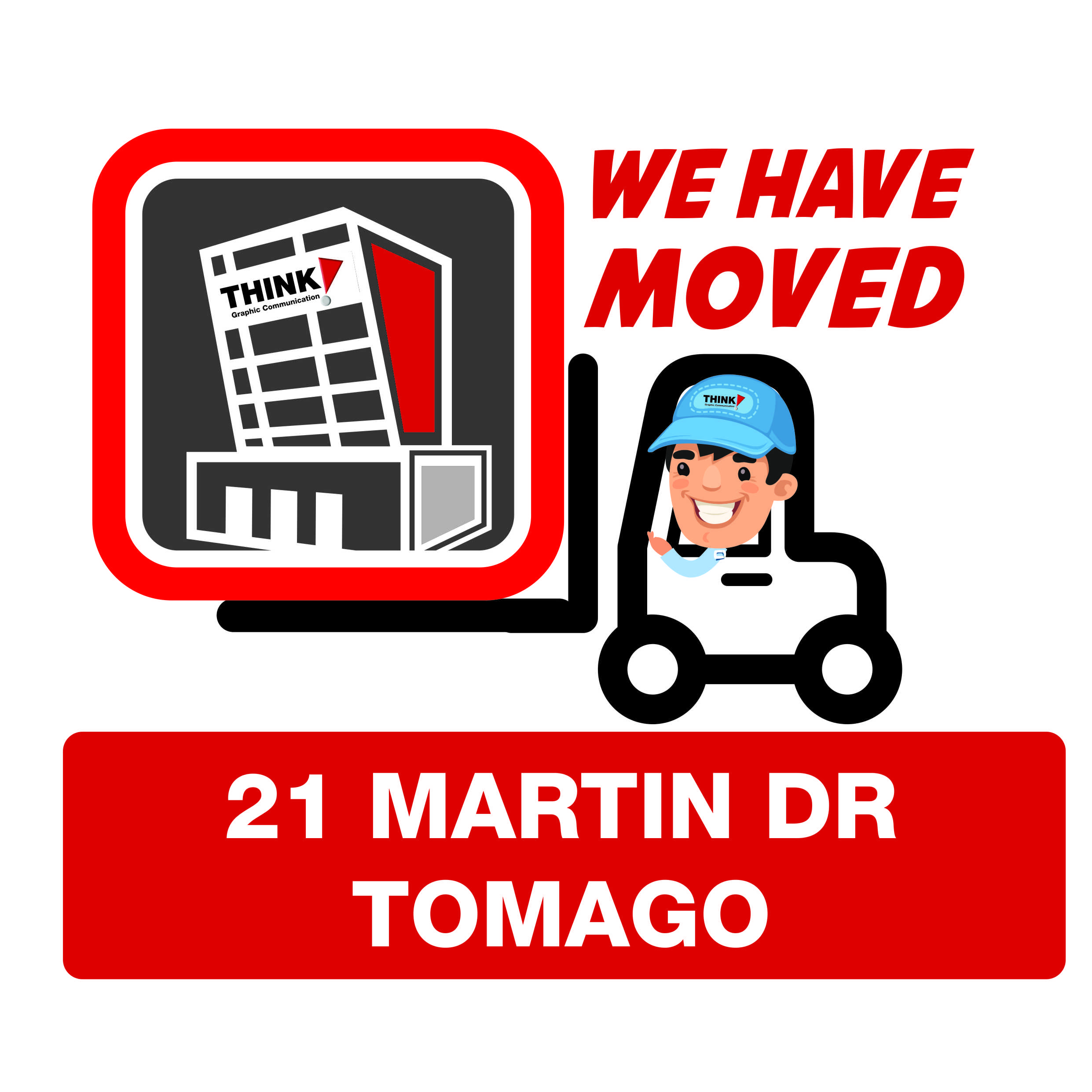 Think have moved to 21 Martin Dr Tomago