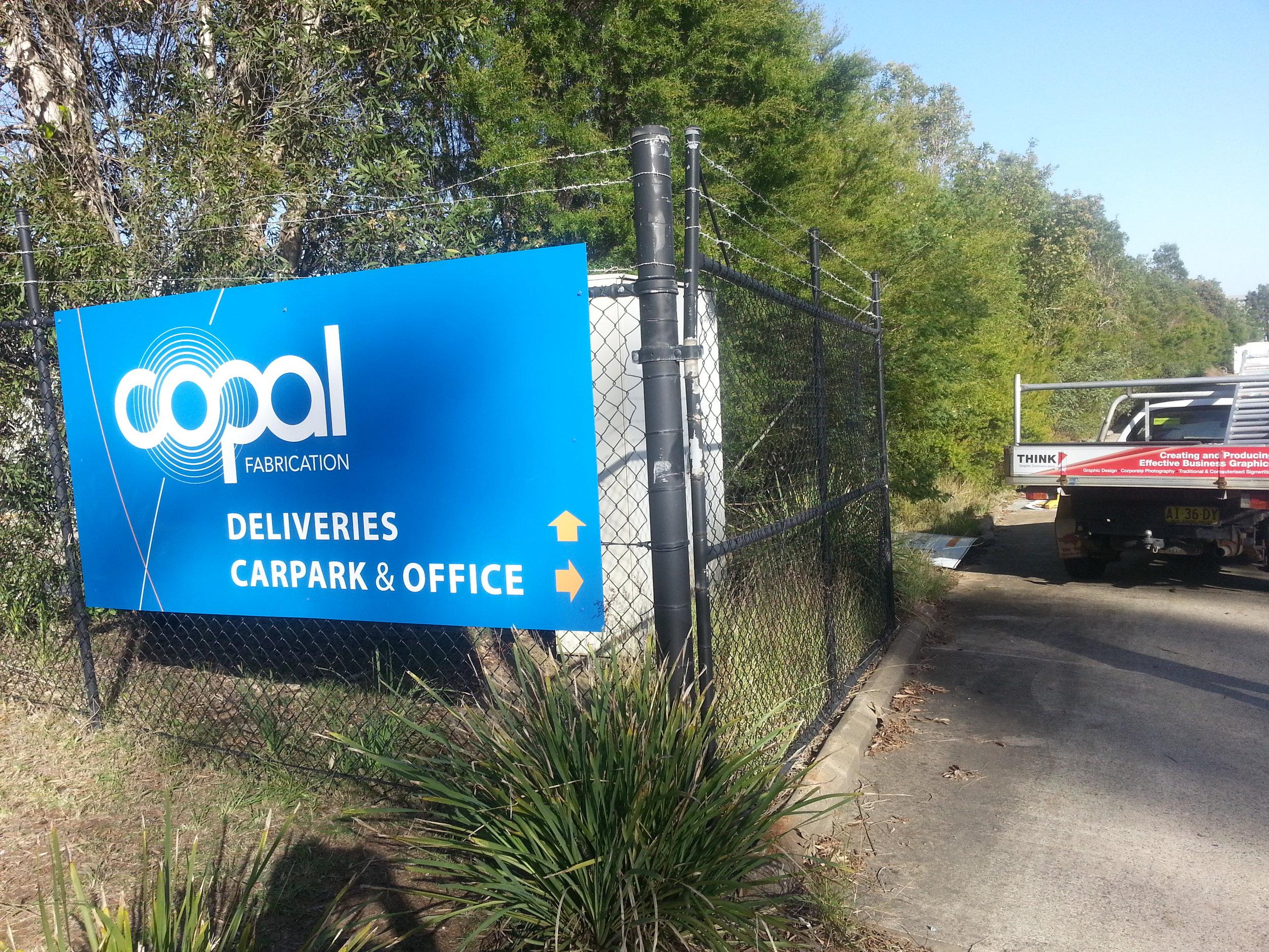 Copal gate sign