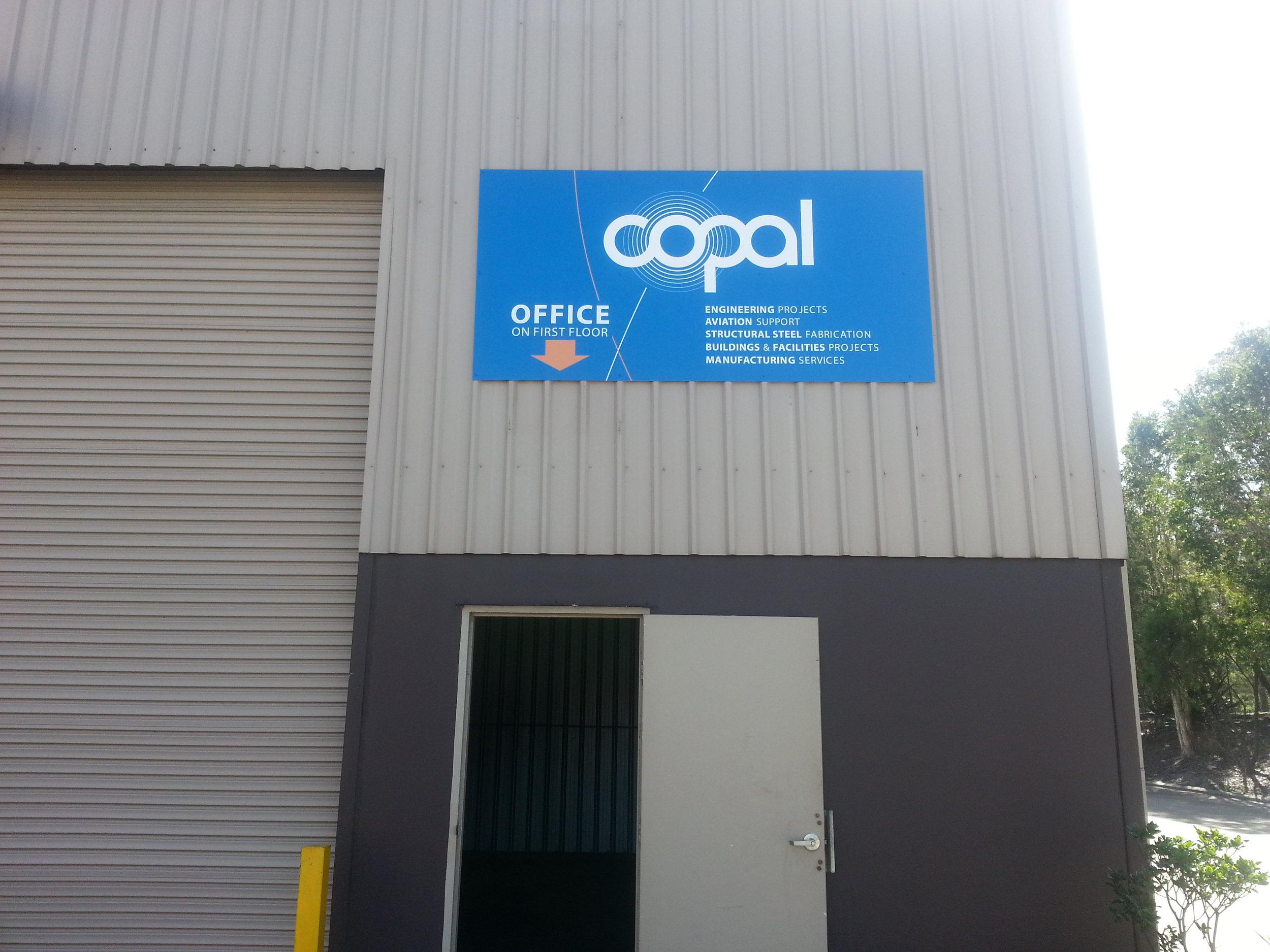 copal entrance sign