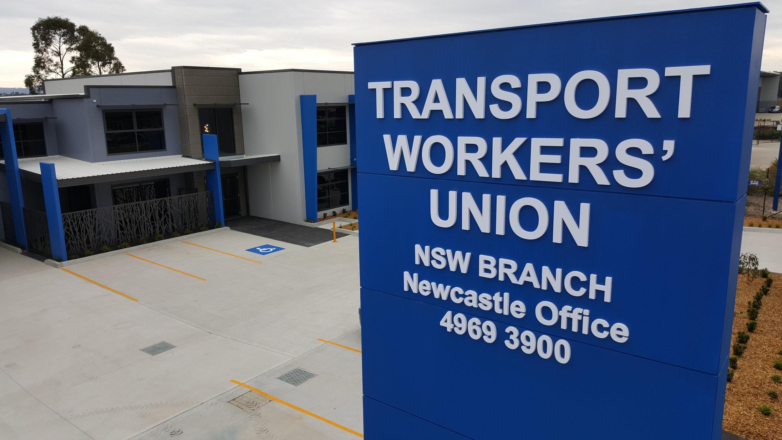 transport workers union pylon sign.jpg