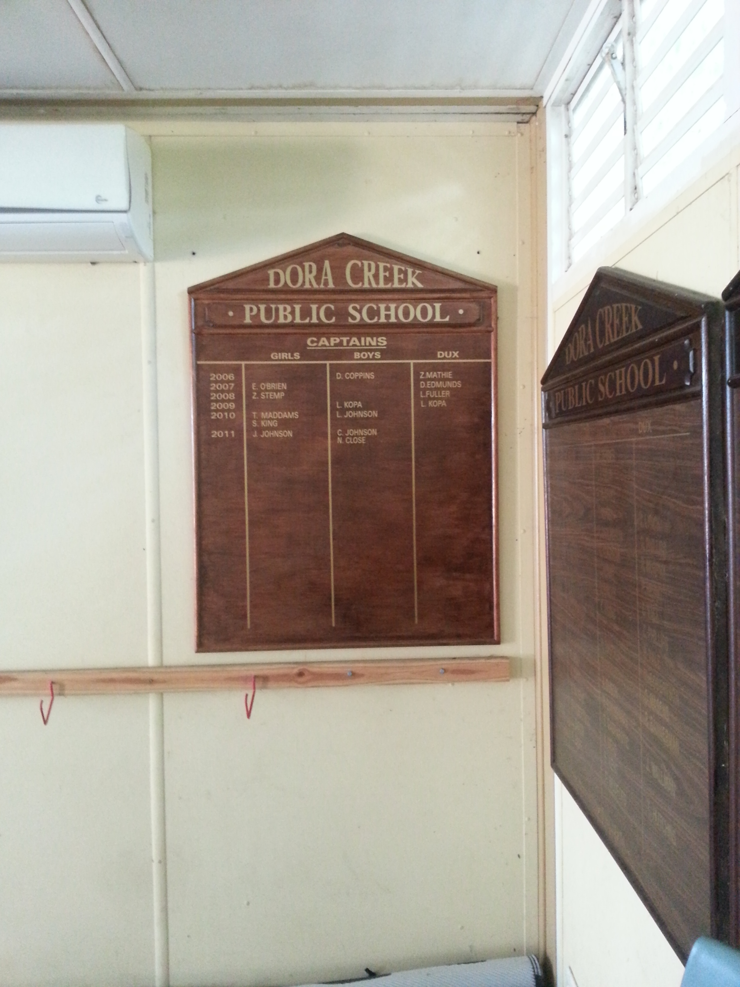dora creek vinyl honour board.jpg