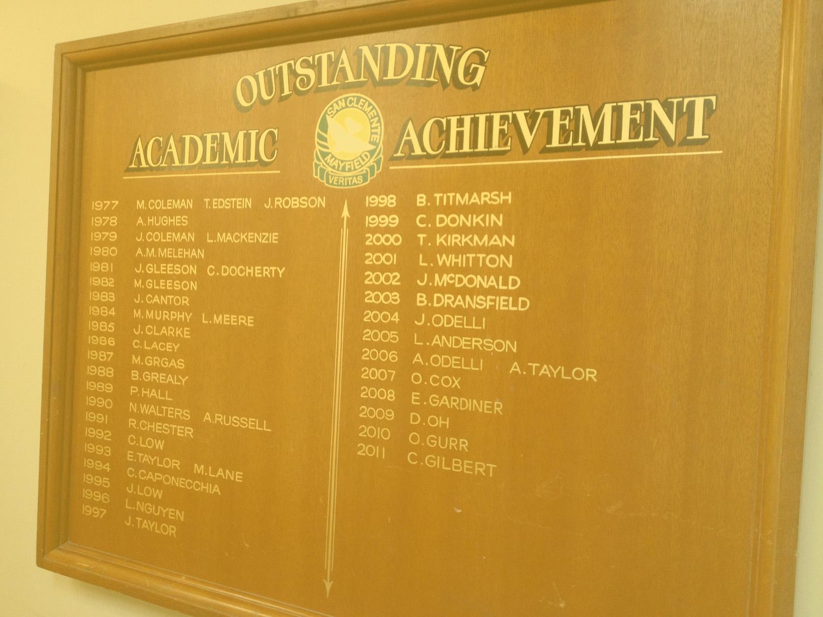 honour boards -