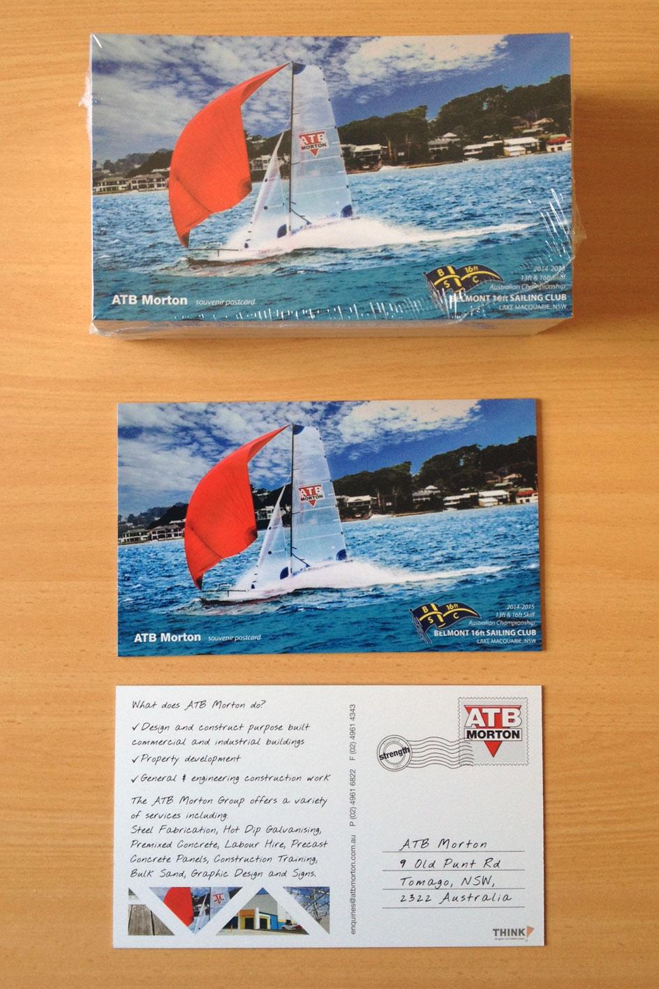 sailing away post cards