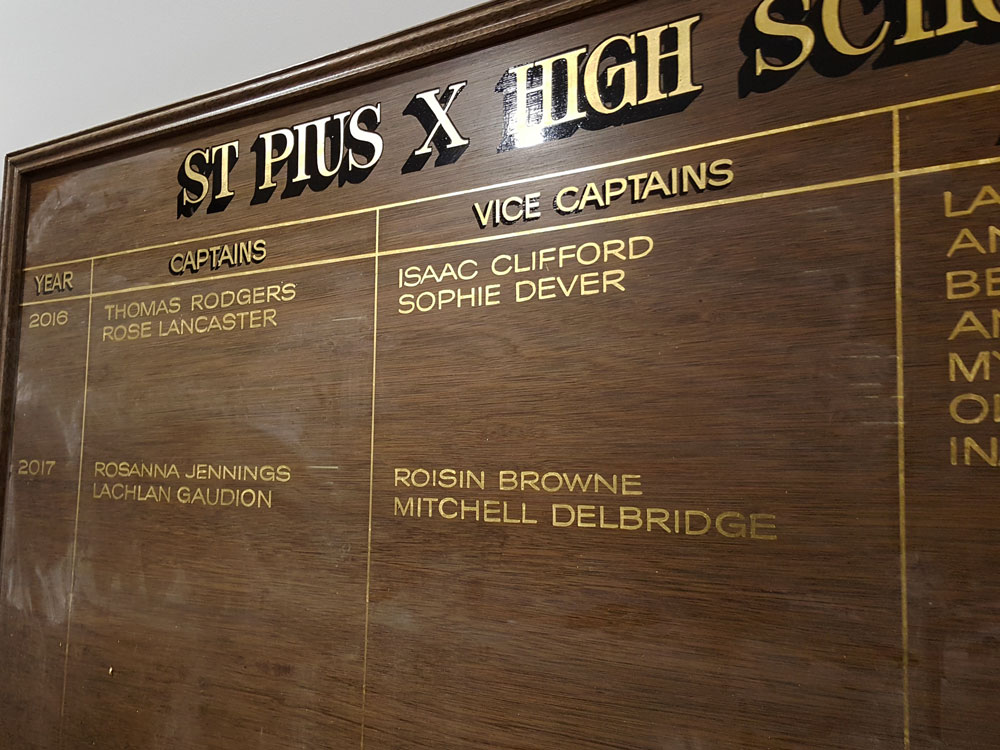 Honour Boards - Custom made to order