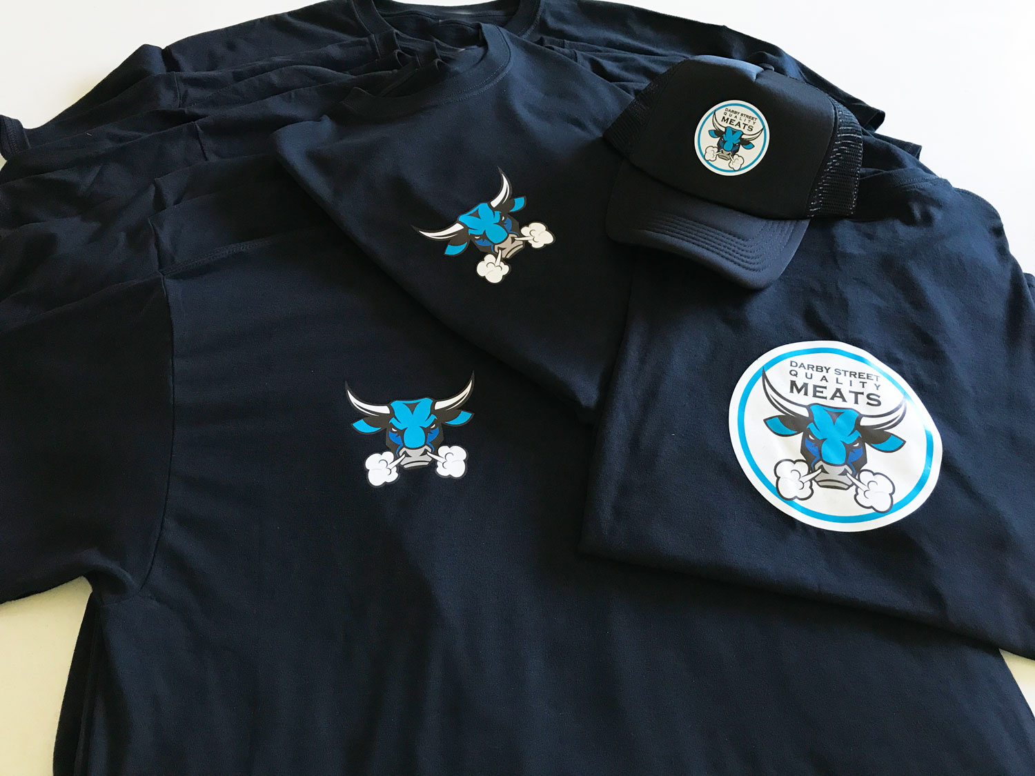 stamped - custom printed shirts, long sleeves and caps, mobile advertising