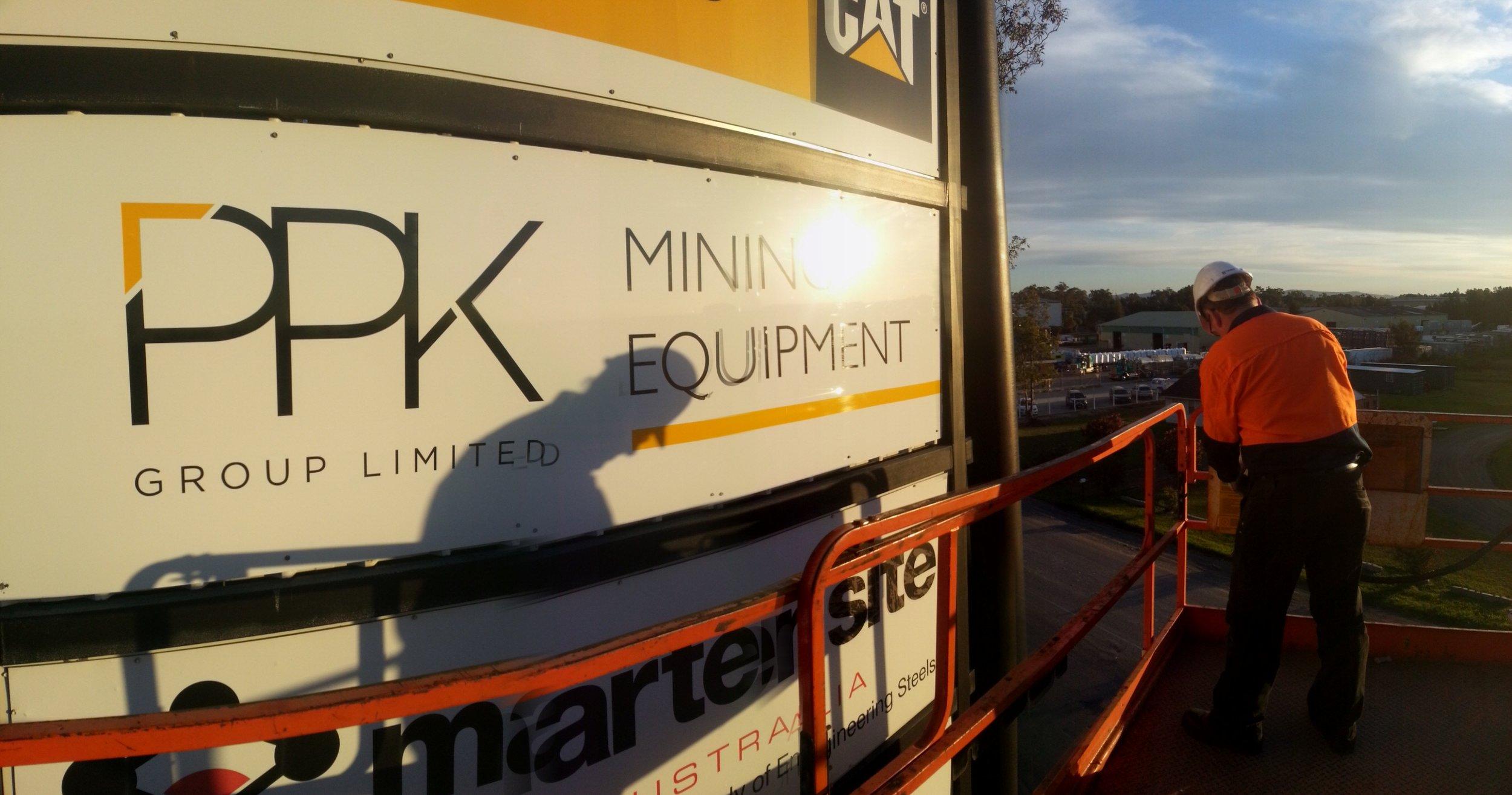 PPK pylon sign