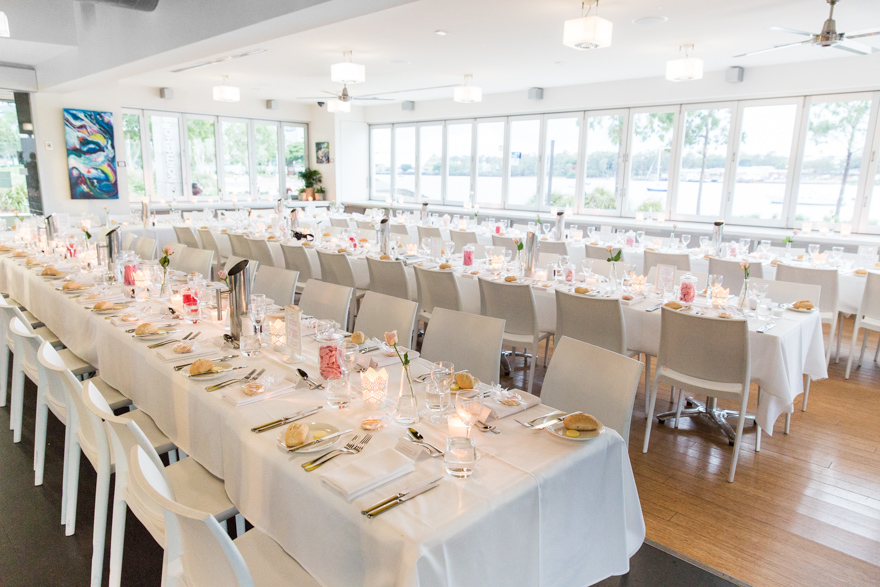 Northshore Harbour wedding reception