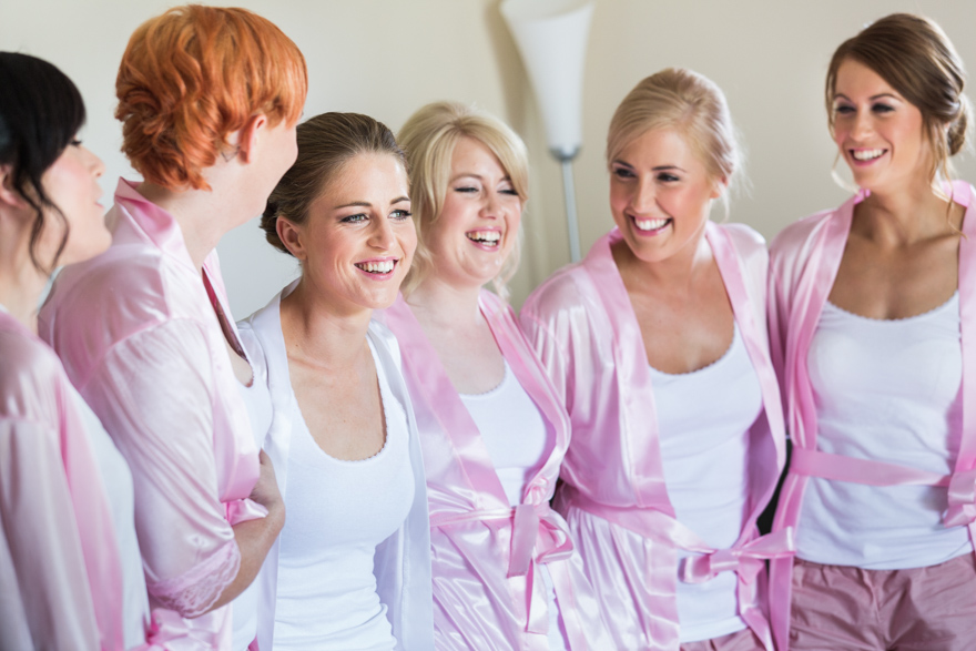 bride & bridesmaids preparation photography