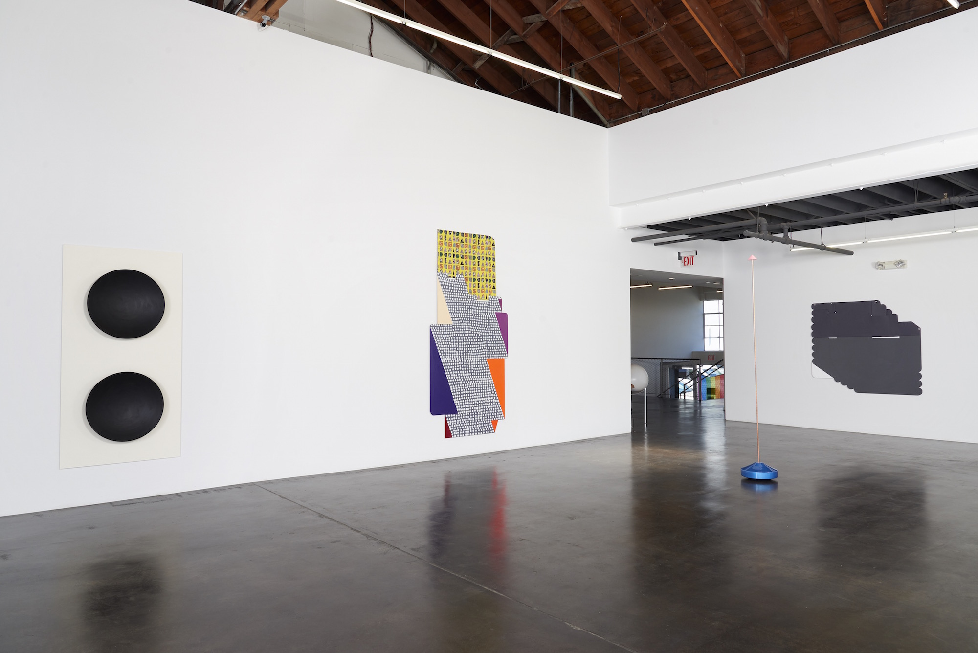 Installation view of 'Twist' at fused, showing works by Lisa Williamson, Ruth Root and Reuven Israel.  (Courtesy of Jessica Silverman Gallery)