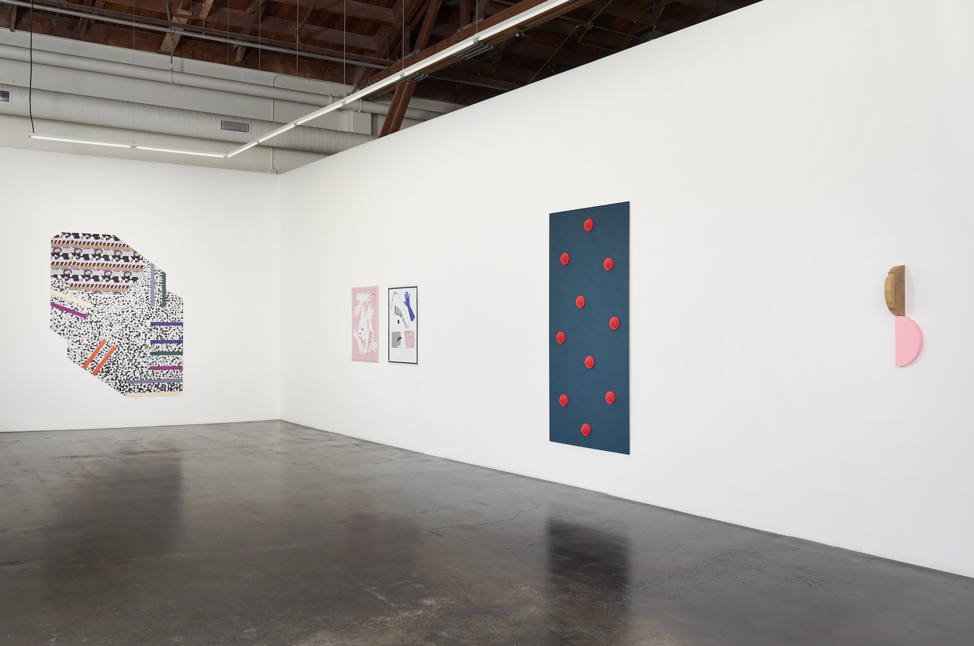 Installation view of 'Twist' at fused, showing works by Ruth Root, José León Cerrillo, Lisa Williamson and Ruth Root.  (Courtesy of Jessica Silverman Gallery)