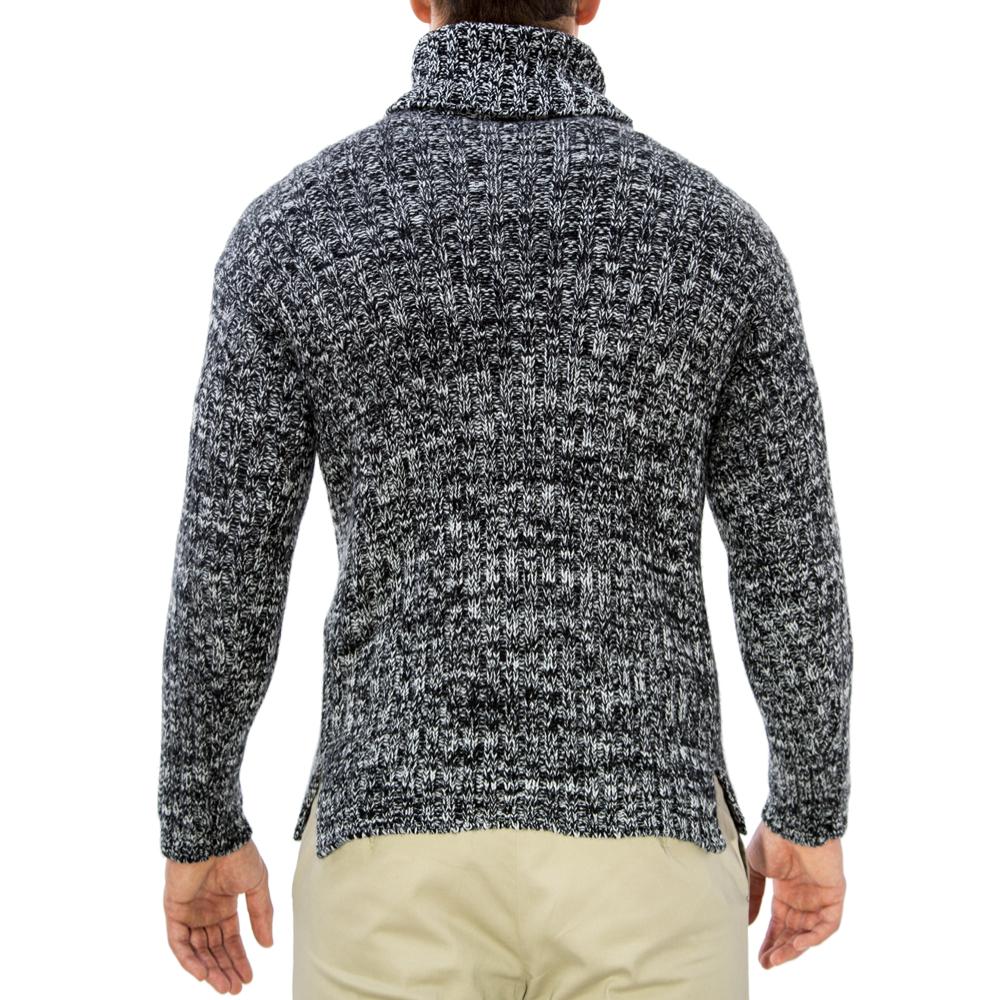 editionoo4-mens-rollneck-cashmere-chunky-sweater-black-white-back