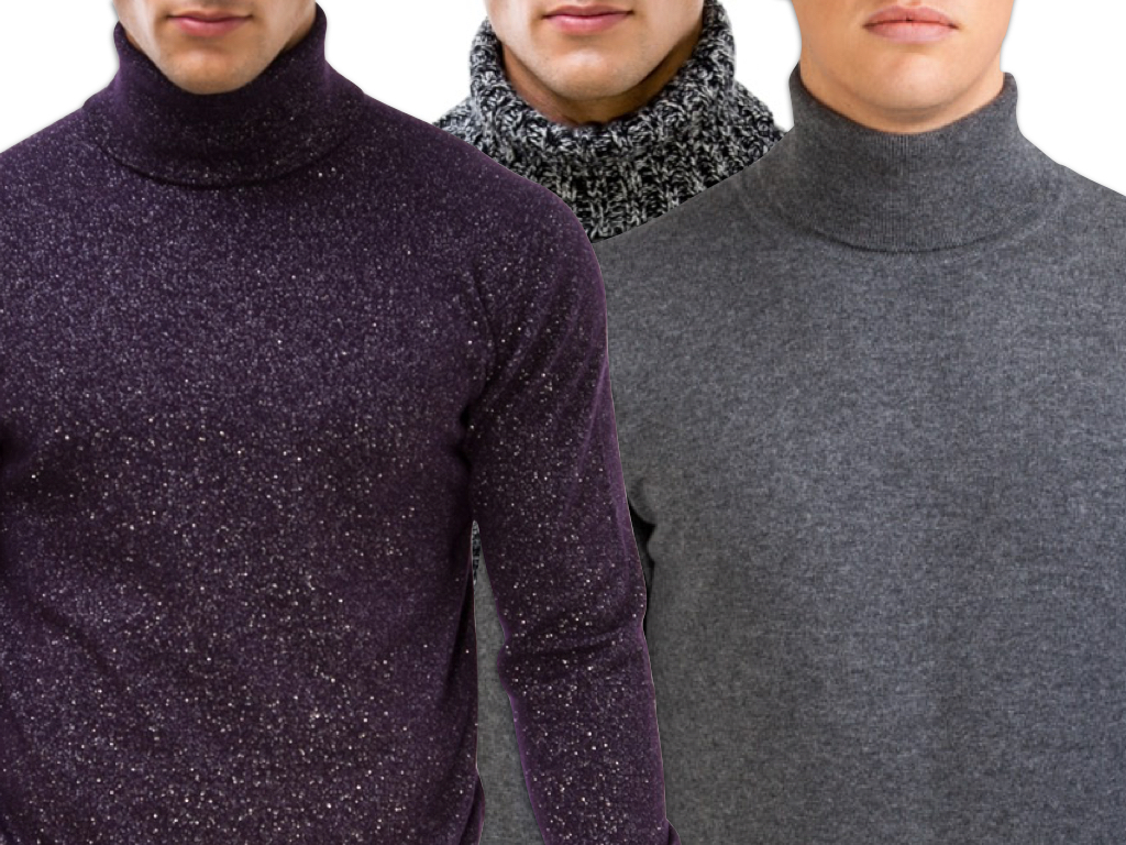 Men's Polo Neck Cashmere Sweaters