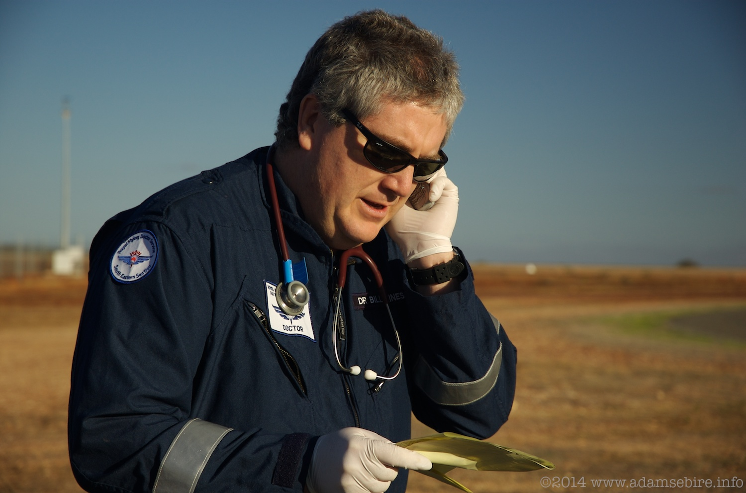 RFDS Aeromedical Doctor Bill Hines at Whitecliffs, NSW