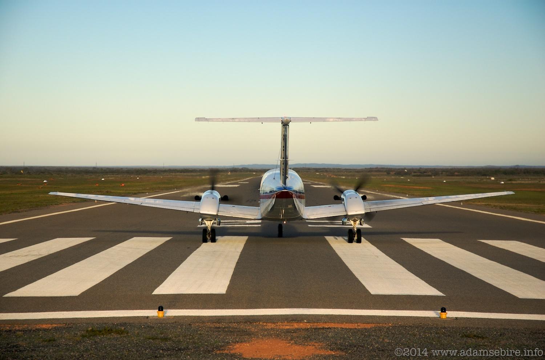 RFDS Australia plane takeoff, Broken Hill, NSW