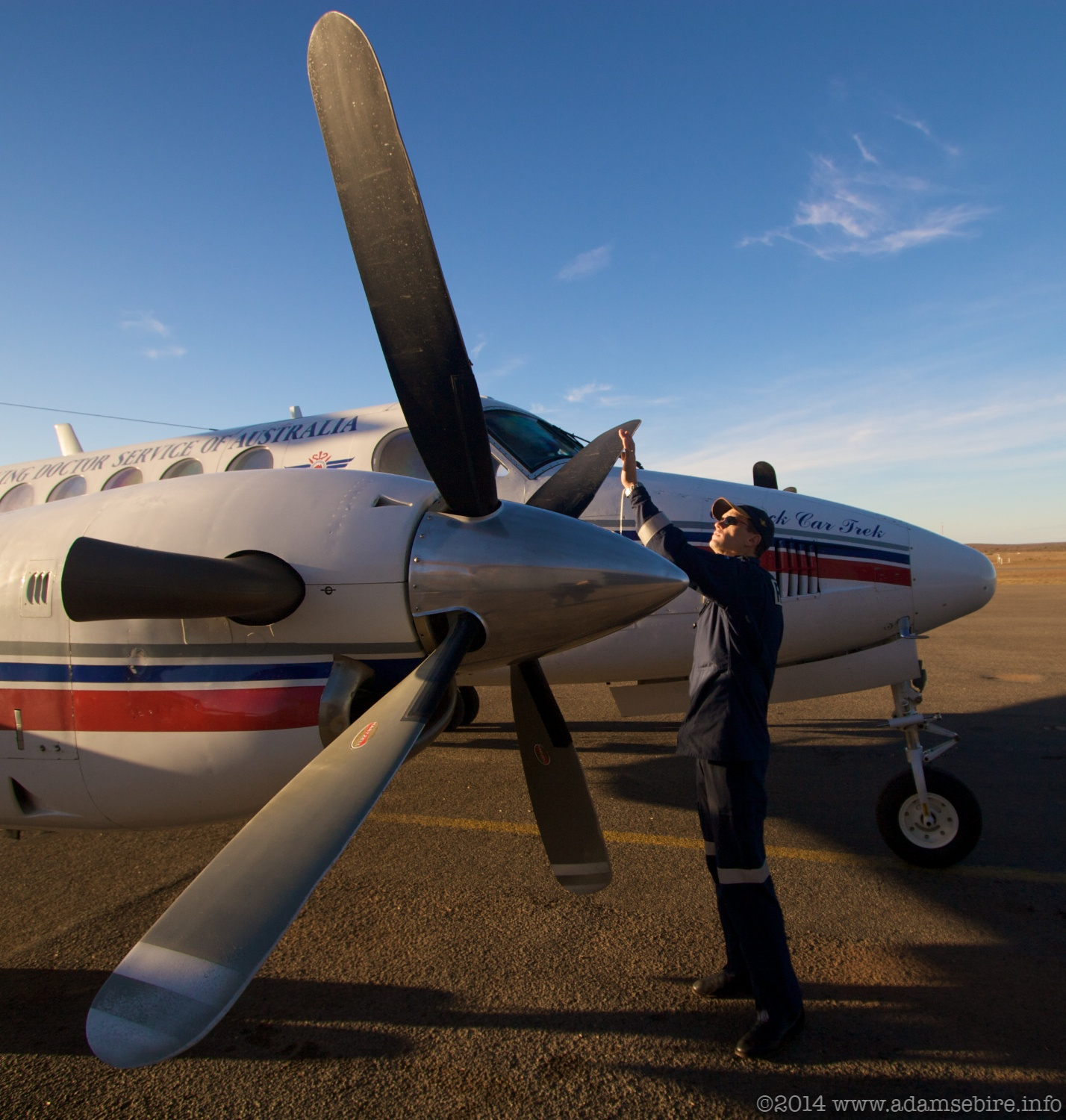 Royal Flying Doctor Service (RFDS) Pilot Shane Brook at Broken Hill, NSW