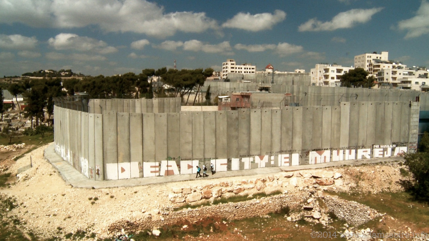 Israeli separation or 'apartheid' wall, Bethlehem