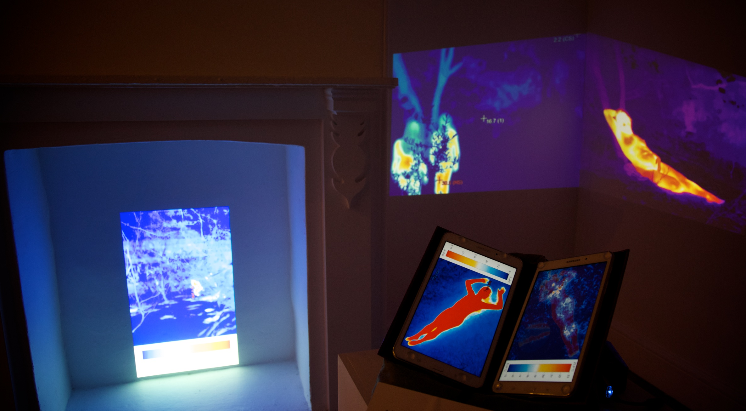 """Images from """"in the heat of the moment"""" exhibition at Culture at Work's Accelerator Gallery"""
